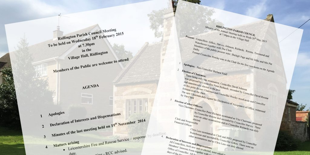 Ridlington village-hall-meetings-agendas