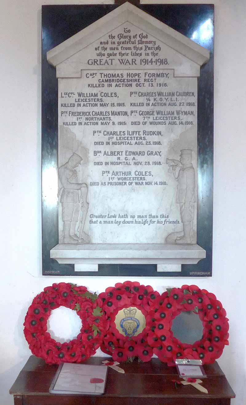 Memorial to the dead 1914-18 War